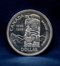 1958 CANADIAN TOTEM POLE SILVER DOLLAR