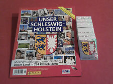 Panini Unser Schleswig - Holstein - komplett alle 264 Sticker + Album Leeralbum
