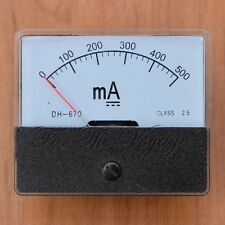 0- 500mA DC Ammeter Amp Panel Meter Current Analog Analogue NEW