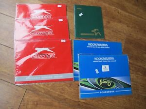 KOOKABURRA SLAZENGER  Official Cricket Scorebooks  50- 60  Innings SELECTION
