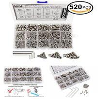 520 Assortment Screw Nuts Kit Head Cap Metric Socket Button Hex Bolt M3 M4 M5