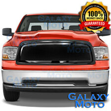 09-12 Dodge RAM Truck 1500 Front Hood Gloss Black Mesh Grille+Replacement Shell