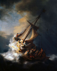 Storm on the Sea of Galilee by Rembrandt,  Giclee Canvas Print, various sizes