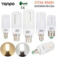 3W 5W 7W 9W 12W LED Corn Light Bulb E14 E27 B22 5736 SMD White Lamp AC 110V 220V
