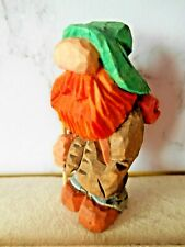 Hand carved & painted cute little wooden figure - Hiker