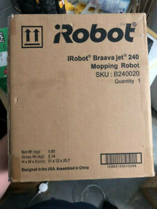 iRobot Braava Jet 240 Mopping Robot with Wet Mopping pads and damp sweeping pads
