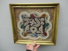 More details for a victorian american indian embroidered beadwork sampler picture c1880