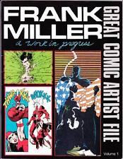Frank Miller Great Comic Artist File - 1986 fanzine - interviews & artwork