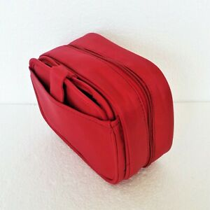 Cosmetic Bag Organizer Makeup Bag & Wallet NEW w/ Tags Red / Maroon Travel