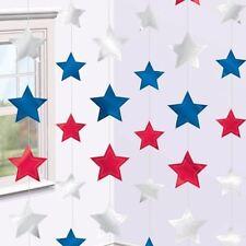 6pk EE. UU. estrella Cadena Decoraciones 2.1m 4th de Julio partido patriótico americano