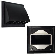 110 x 54mm Rectanguar BLACK Cowl Vent for Tumble Dryer / Extractor fan
