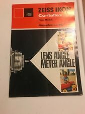 ZEISS IKON CONTAFLEX New Model manual super BC Original Germany Pamphlet
