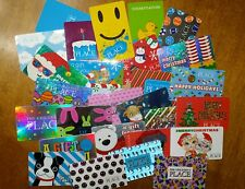 29 Empty Gift Cards New Old Unused Children's Place Collectable Easter Christmas