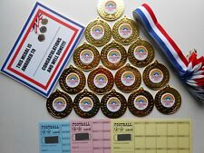 LOCKDOWN 2021 MEDALS - 50MM METAL - WITH RIBBONS AND CERTIFICATES SET OF 15