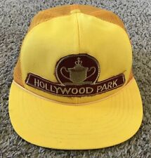 Vintage 1980's Hollywood Park Horse Race TrackMesh Trucker Hat, Snapback