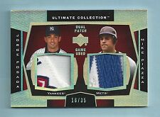 JORGE POSADA MIKE PIAZZA 2003 ULTIMATE COLLECTION 5 COLOR GAME WORN PATCH /35
