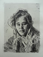 """Anders ZORN: Etching """"Kråkbergs Anna"""" Radierung 1908 very nice condition"""