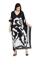 Black White Dress Kaftan Caftan Size Maxi Women Cover Long Up Dress