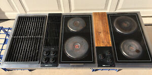 """Classic Jenn Air C316 Downdraft 3 bay Cooktop Stainless Steel 47"""" Tested/Working"""