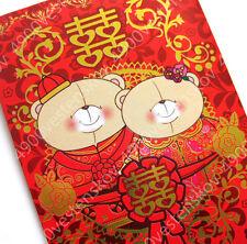 10pc Hallmark Forever friends bear Chinese wedding Red Packet pocket envelope
