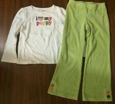 Gymboree Toddler Girls Heart Outfit Puppy Size 5T 5 T Shirt Pants