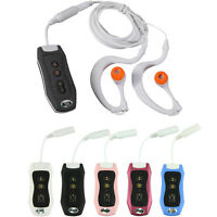 Sport Mp3 Player 4GB Clip Waterproof IPX8 Mp3 Player FM Swimming Diving+Earphone