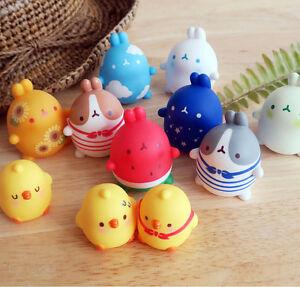 "Molang 2"" Mini Figure Ver.1 Summer Autumn 12 Packs Box Set Cute Rabbit Bunny Toy"