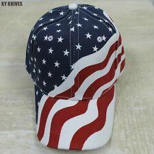 American Flag Cap United States Stars & Stripes Patriotic Baseball Hat -f