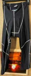 Voler Trilogy women's black cycling padded tights size M