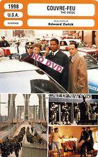 Fiche Cinéma. Movie Card. Couvre-feu/The siege (USA) 1998 Edward Zwick