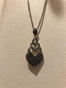 NWT $995 John Hardy Legends Naga Black Spinel Pendant Necklace