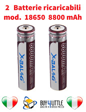 2 Batterie ricaricabile LITIO 8800 mAh torcia led power avvitatore 42gr 8800mAh