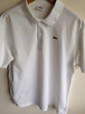 Lacoste Sport Homme 6 = L 40-42 tour de poitrine Slim Top Homme Blanc Polo T Shirt