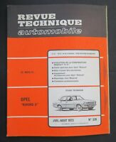 REVUE TECHNIQUE AUTOMOBILE RTA OPEL REKORD 2 RENAULT 6 TL n°326