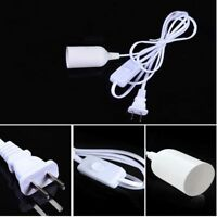 Pendant Light Bulb Cable Cord Lamp Holder Socket Base With Switch Converter