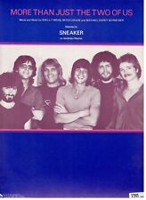"SNEAKER ""MORE THAN JUST THE TWO OF US"" SHEET MUSIC-1981-RARE-NEW ON SALE-MINT!!"