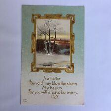 Vintage Romance Love Unposted Postcard