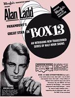 BOX 13 Complete Set - OTR - Old Time Radio Show- Alan Ladd - MP3 CD