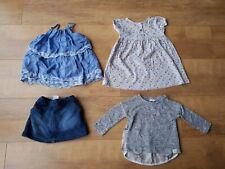 NEXT RIVER ISLAND BABY GIRL SUMMER BUNDLE Blue Floral Skirt Top Dress 6-9 Months
