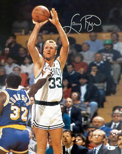 LARRY BIRD AUTOGRAPHED SIGNED 16X20 PHOTO BOSTON CELTICS BECKETT 177650