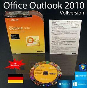 Microsoft Office Outlook 2010 Vollversion Box + CD EDU + Zweitinstallation OVP