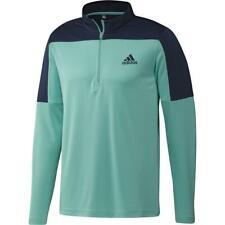 adidas Golf UPF Lightweight 1/4 Zip Mens Pullover sweater (Acid Mint) / NEW 2021