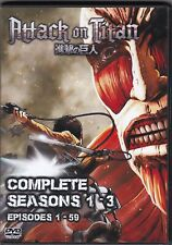 Attack on Titan Episodes 1-59 ALL English Dubbed on 6 DVD Set 3 Complete Seasons