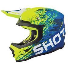 Shot Furious Motocross MX Off Road Helmet Counter Blue Neon Yellow Matt