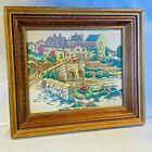 Vtg. Original Dimensional by Berte 3D Embroidery & Wood Frame Art Style Dickens