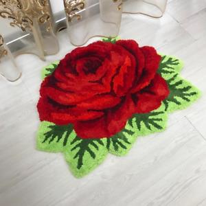 Plush Art Rug Rose Rug Rose Mat Rose Carpet ROSE ART RUG FOR LIVING ROOM DECOR