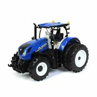 New Holland T7.315 Tractor w/ Dual Wheels 1:64 DIecast Model - SpecCast ZJD1832*
