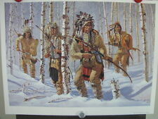 """Michael Gentry """"Winter Warriors"""" #293/650  Native American Indian Hunters Scout"""