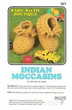 NEW INDIAN MOCCASINS BABY BOOTIE BOUTIQUE DIGEST SIZE CROCHET PATTERN