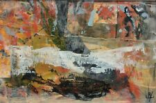 Irish Art – Original John kingerlee  -  oil, collage and mixed media on card